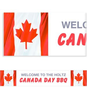 Custom Waving Canadian Flag Banner