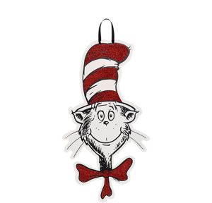Glitter Cat in the Hat Sign - Dr. Seuss