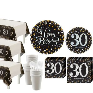 Sparkling Celebration 30th Birthday Party Kit for 32 Guests