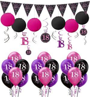 Pink Sparkling Celebration 18th Birthday Balloon Kit