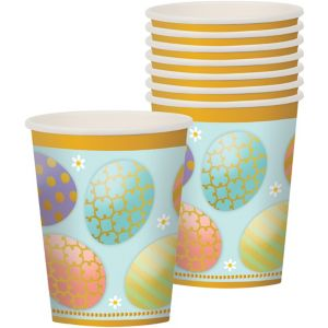 Golden Easter Egg Cups 8ct