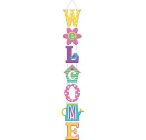 Spring Stacked Welcome Sign
