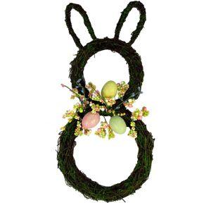 Twig Easter Bunny Wreath