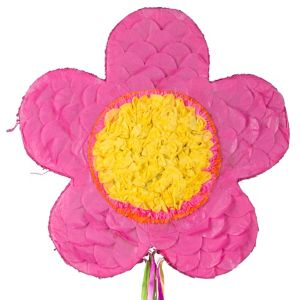 Pull String Pink Flower Pinata