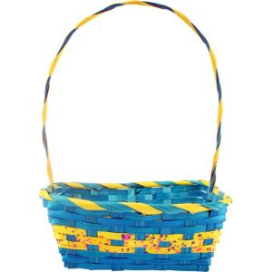 Medium Blue Square Easter Basket
