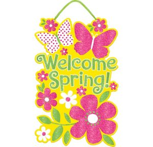 Glitter Welcome Spring Sign