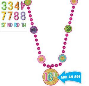Rainbow Happy Birthday Pendant Bead Necklace Kit