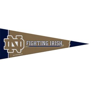 Small Notre Dame Fighting Irish Pennant Flag