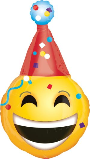 Giant Party Hat Smiley Balloon