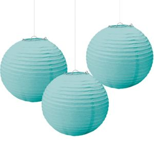 Robin's Egg Blue Paper Lanterns 3ct