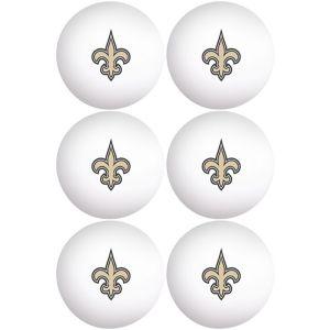 New Orleans Saints Pong Balls 6ct