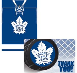 Toronto Maple Leafs Invitations & Thank You Notes for 8