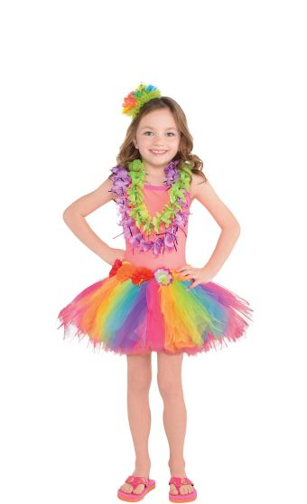 Child Neon Luau Costume Accessory Kit