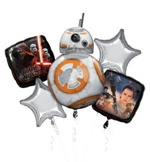 BB-8 Balloon Bouquet 5pc - Star Wars 7 The Force Awakens