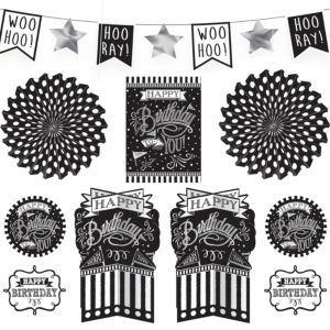 Chalkboard Dots Birthday Room Decorating Kit 10pc
