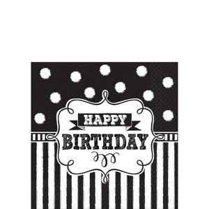 Chalkboard Birthday Beverage Napkins 16ct
