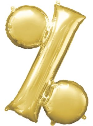 Giant Gold Percent Symbol Balloon