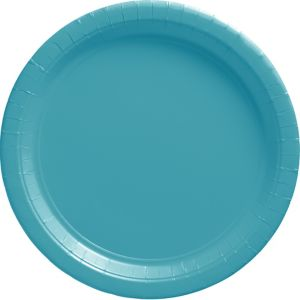 Caribbean Blue Paper Dinner Plates 20ct