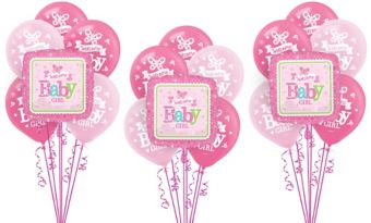 Welcome Baby Girl Balloon Kit 18ct