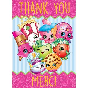 Shopkins Thank You Notes 8ct