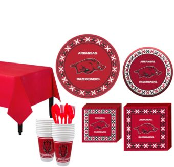 Arkansas Razorbacks Basic Party Kit for 16 Guests