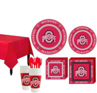 Ohio State Buckeyes Basic Party Kit for 16 Guests