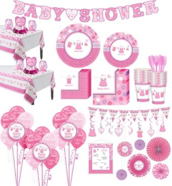 It's a Girl Premium Baby Shower Kit for 32 Guests