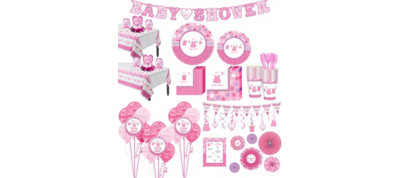Baby Girl Shower with Love Premium Kit 32 Guests