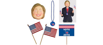 Female Presidential Candidate Democrat Super Accessory Kit