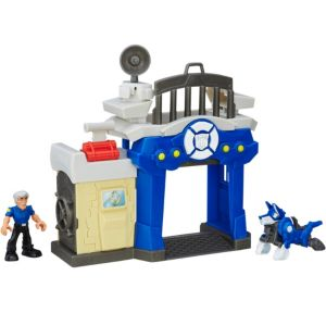 Rescue Bots Griffin Rock Police Station Playset 4pc - Transformers