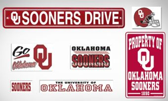 Oklahoma Sooners Dorm Room Kit
