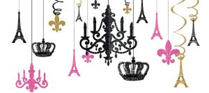A Day in Paris Chandelier Decorating Kit 17pc