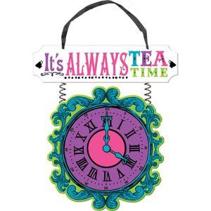 Mad Tea Party Clock Sign