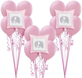 Pink Baby Elephant Balloon Kit 18ct