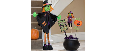 Welcoming Witch and Cauldron Decorating Kit