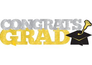 Glitter Gold & Silver Graduation Table Sign