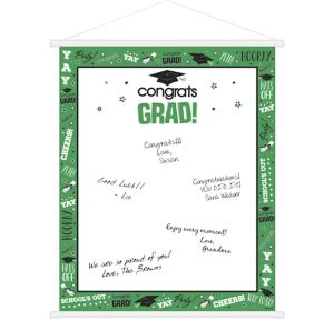 Green Graduation Sign-In Sheet