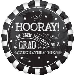 Chalk Hooray Graduation Balloon