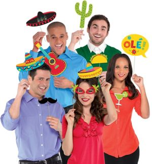Fiesta Photo Booth Props 13ct
