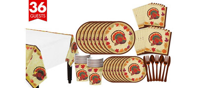 Thanksgiving Holiday Tableware Kit for 36 Guests