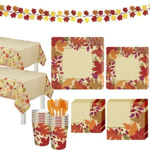 Festive Fall Tableware Kit for 36 Guests