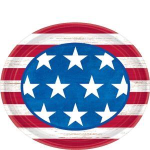 Americana Oval Plates 18ct