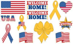 Patriotic Welcome Home Cutouts 12ct