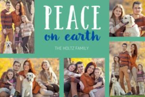 Custom Green Peaceful Collage Photo Card