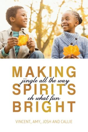 Custom Gold Making Spirits Bright Photo Card