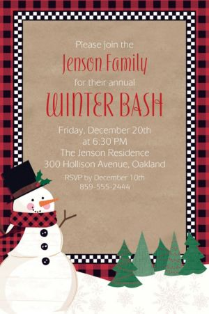 Custom Winter Wonder Snowman Invitation