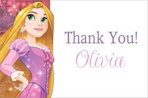 Custom Rapunzel Thank You Note
