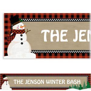 Custom Winter Wonder Snowman Banner