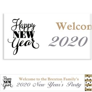 Custom Golden Pattern New Year Banner