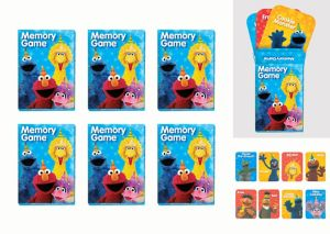 Sesame Street Memory Match Games 6ct